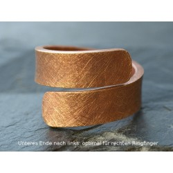 Spiralring Bronze eismatt links